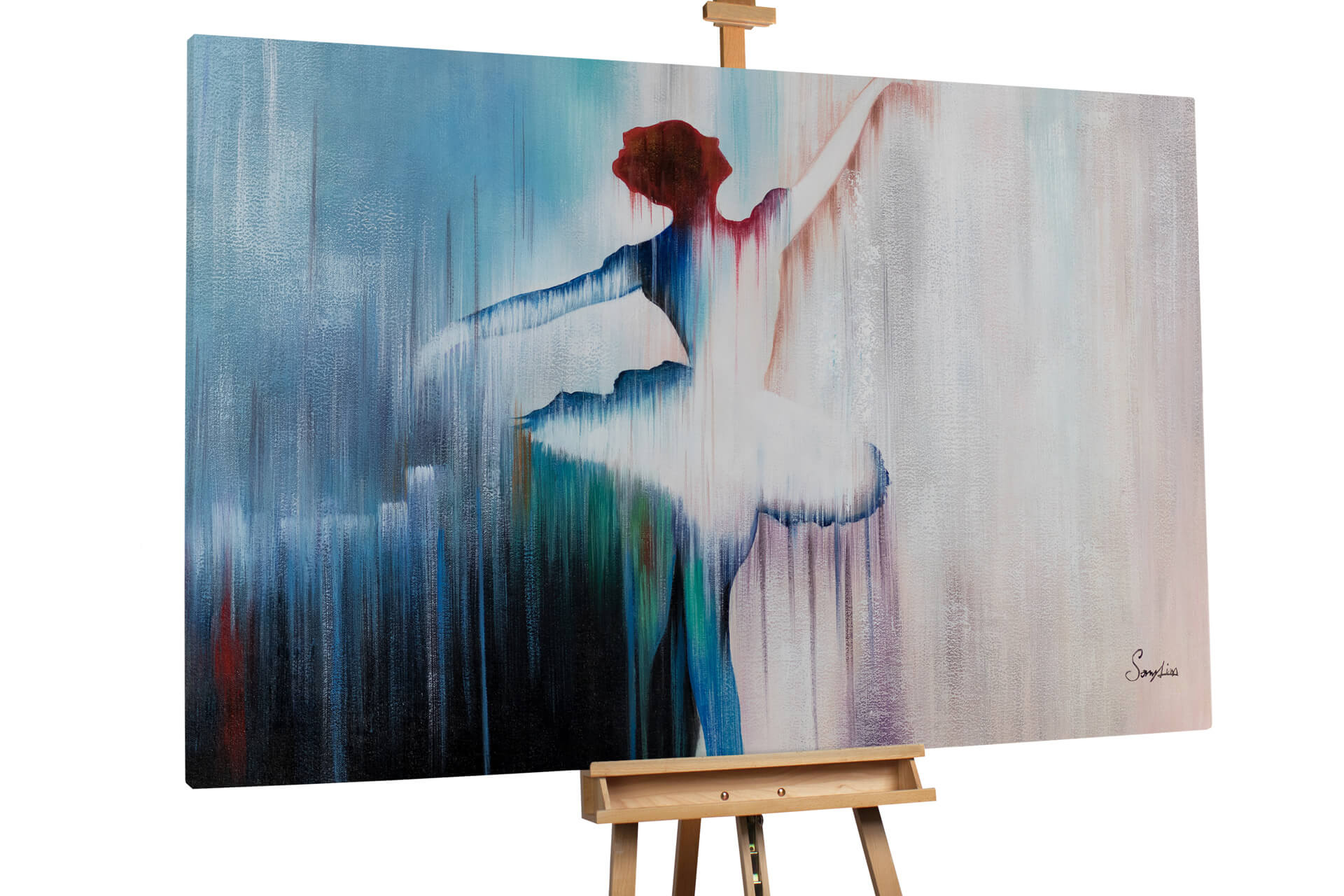 XXL oil painting 'Shadowy' 71x47 inches