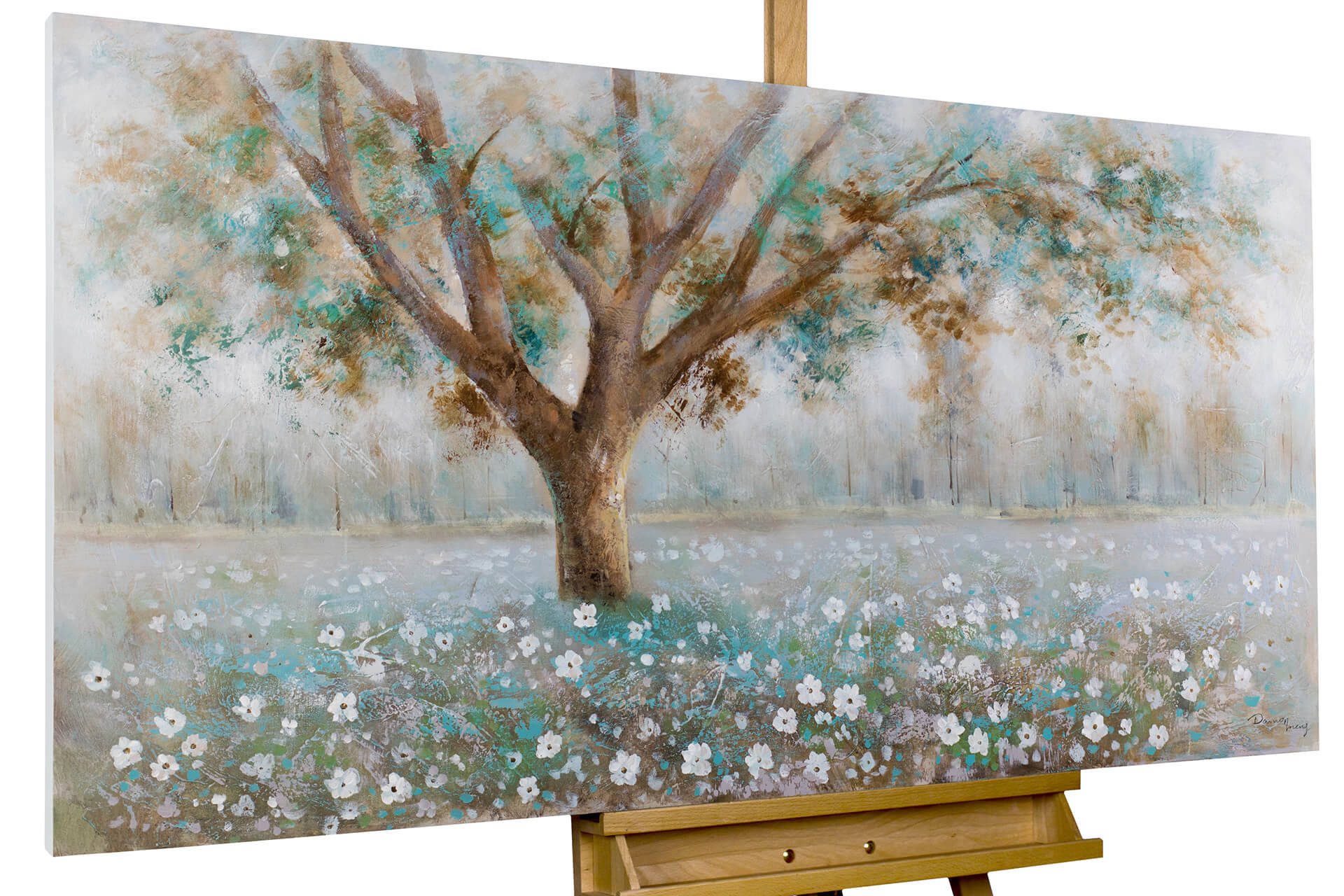 Acrylic Painting Tree Whispers 55x28 Inches